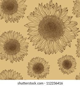 sunflower silhouette background