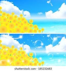 Sunflower sky landscape