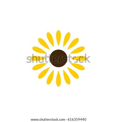 Sunflower Yellow Petals Logo Template