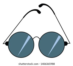 Sunglass or sunglasses are used as protective eyewear. It helps to safeguard our eyes from the bright light of the sun., vector, color drawing or illustration.