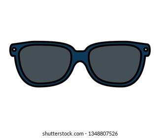 sunglasses accessory isolated icon