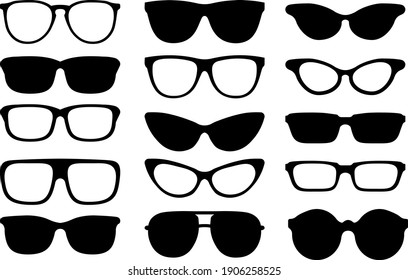 Sunglasses clip arts with lines