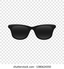 Sunglasses dark black object icon illustration transperent isolated vector