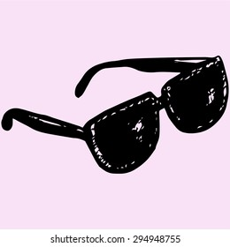 sunglasses, doodle style, sketch illustration