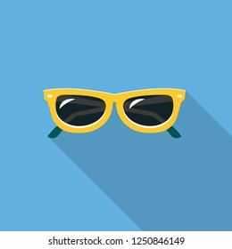 Sunglasses Flat Design Icon with Side Shadow