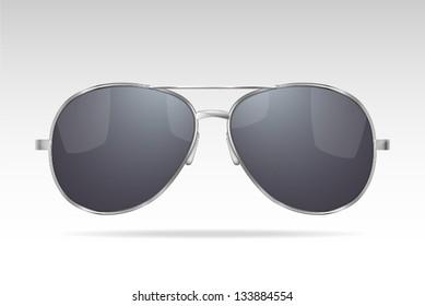 Sunglasses. (gradient, transparent objects). Vector illustration