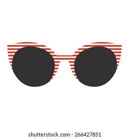Sunglasses icon. Flat design. Vector illustration
