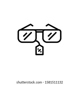 Sunglasses Icon Outline Vector. Holiday Sale Icons. Online Shop Ikon.