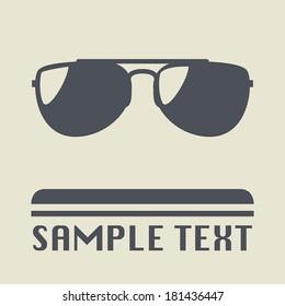 Sunglasses icon or sign, vector illustration