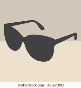 Sunglasses icon, vector illustration