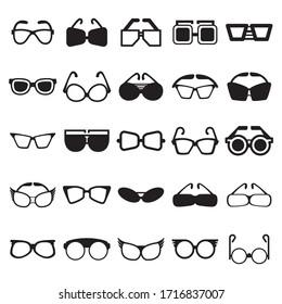 Sunglasses icons set vector illustration