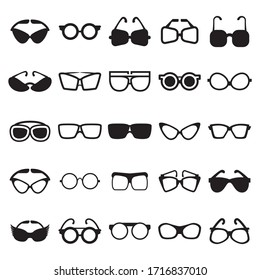 Sunglasses icons set vector illustration