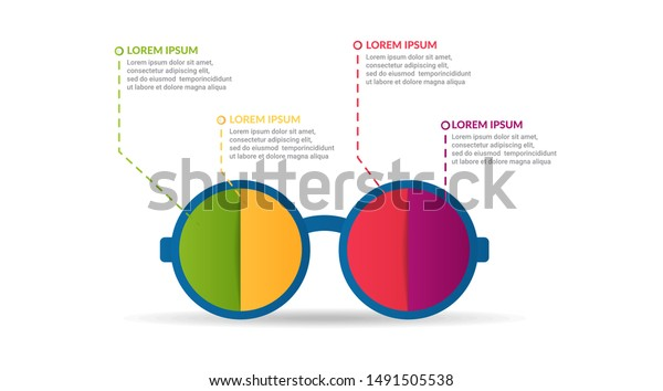 Sunglasses Infographic Design Options List Infographic Stock Vector Royalty Free 1491505538