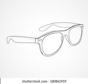 Sunglasses isolated vector illustration