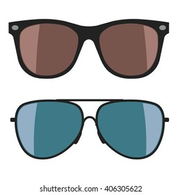 Sunglasses on white background. Vector illustration
