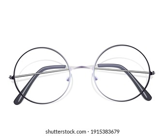 Sunglasses with perfectly round lens type