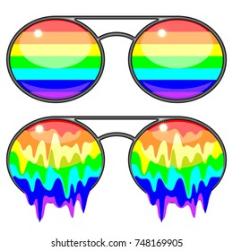 Sunglasses Rainbow Colors Surreal Fashion Accessories