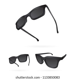 cfc3144d28f Sunglasses. Realistic vector sunglasses set. Sunglasses vector illustration  collection set. Modern and Fashion