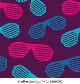 sunglasses seamless pattern vector background