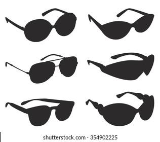 Sunglasses silhouette, vector illustration