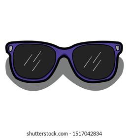 Sunglasses  simple illustration clip art