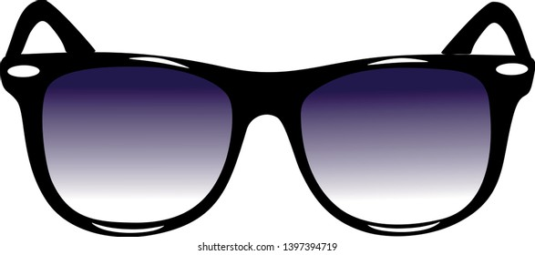 Sunglasses steering whell icon isolated on white background. Sunglasses symbol in flat style. Fashion element Vector illustration for web and mobile design.