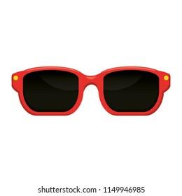 sunglasses summer isolated icon
