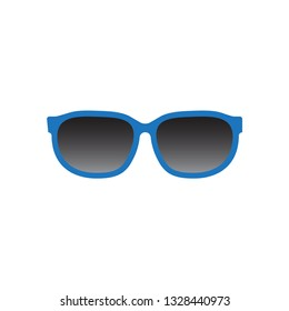 Sunglasses vector icon isolated on white background