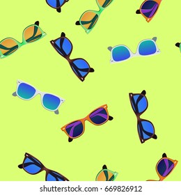 Sunglasses vector, pattern.