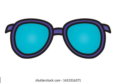 sunglasses vision accessory on white background vector illustration