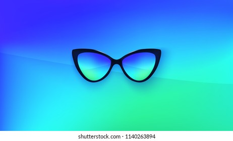 Sunglasses Wallpaper Trendy Colors Fashion Background Stock Vector
