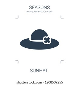 sunhat icon. high quality filled sunhat icon on white background. from seasons collection flat trendy vector sunhat symbol. use for web and mobile