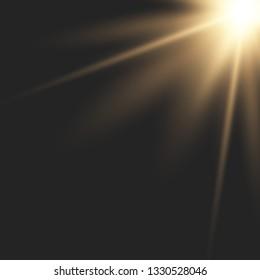 Sunlight lens flare light effect. Bright beautiful star. Vector illustration EPS10