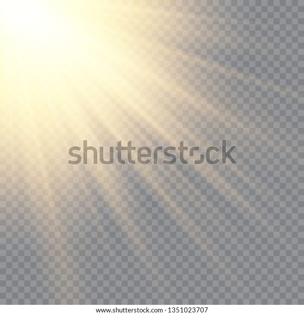 Sunlight On Transparent Background Glow Light Stock Vector