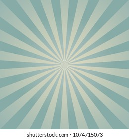 Sunlight retro faded background. Pale blue and beige color burst background. Fantasy Vector illustration. Magic Sun beam ray pattern background. Old paper. starburst wallpaper