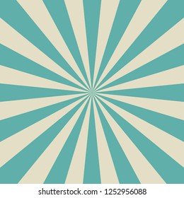 Sunlight retro faded background. Pale green and beige color burst background. Fantasy Vector illustration. Magic Sun beam ray pattern background. Old paper. starburst wallpaper. Circus poster