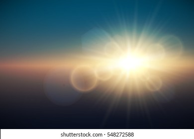 Sunlight special lens flare light effect. Abstract Shining Background. Vector illustration