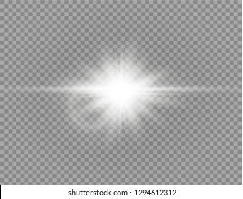 Sunlight a translucent special design of the light effect. Vector blur in the light of radiance. Isolated sunlight transparent background.