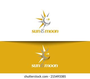 Sunmoon web Icons and vector logo