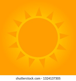 Sunny background with sun shape. Vector illustration.