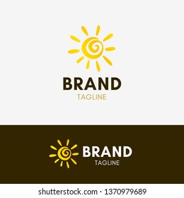 Sunny Logo template element symbol in yellow color