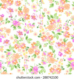 sunny pastel floral print ~ seamless background