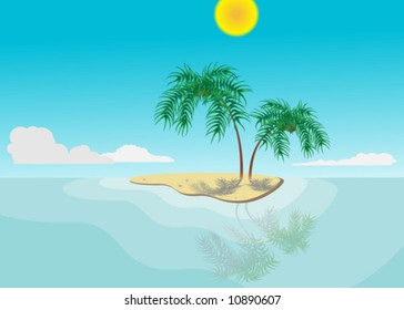 sunny tropic vector