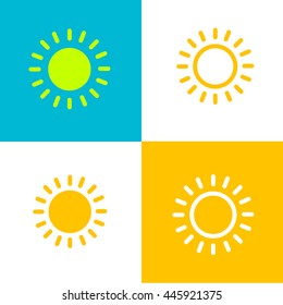 Sunny vector icon examples