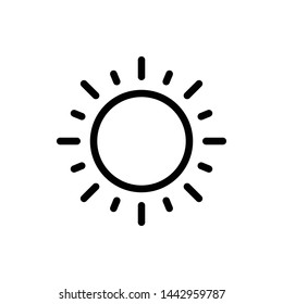 Sunny Weather Element Vector Icon Design Template
