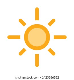 sunny weather icon. flat illustration of sunny weather vector icon for web