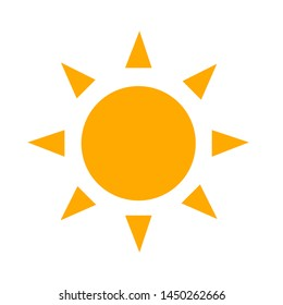 sunny weather icon. Logo element illustration. sunny weather symbol design. colored collection.  sunny weather concept. Can be used in web and mobile