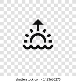 sunrise icon from miscellaneous collection for mobile concept and web apps icon. Transparent outline, thin line sunrise icon for website design and mobile, app development