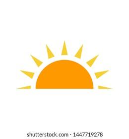 Sunrise icon vector design template, summer symbol
