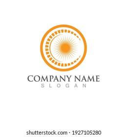 Sunrise logo and symbol vector
